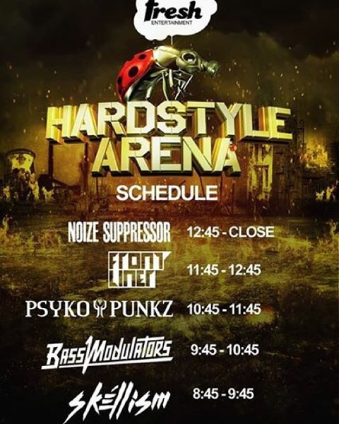 Time Slots for Hardstyle Arena: The Second Coming….